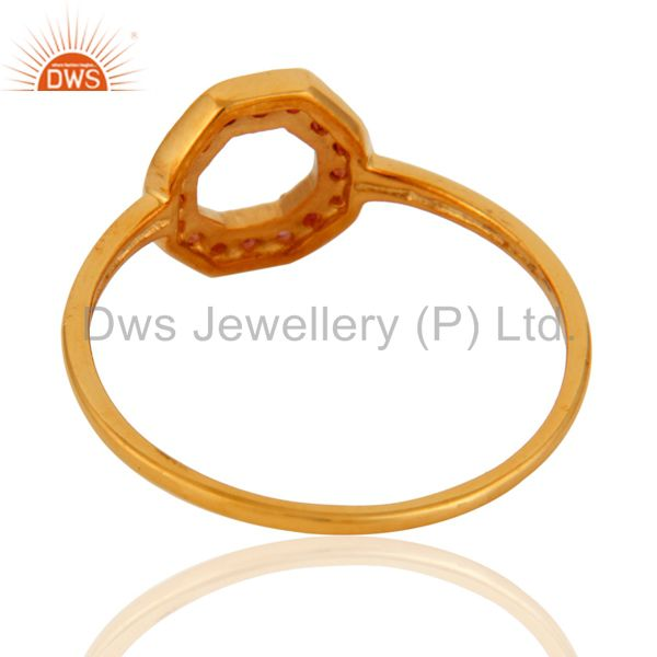 Suppliers 9K Yellow Gold Natural Pink Sapphire Womens Band Ring Size 5 to 12 Available