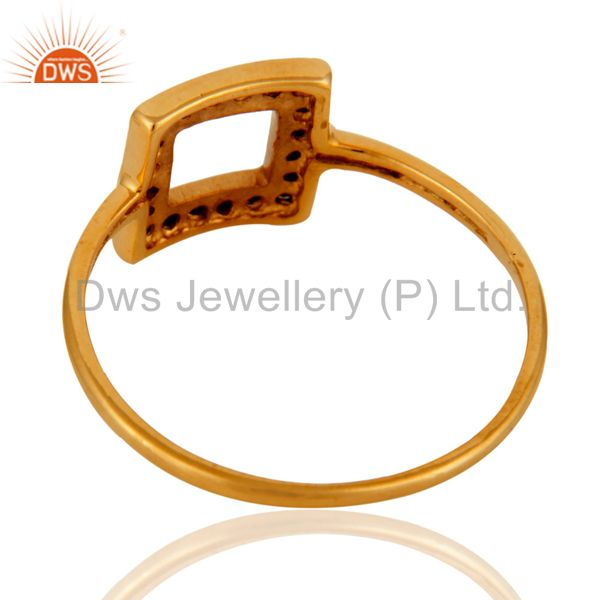 Suppliers Gorgeous 9k Solid Yellow Gold Blue Sapphire Wedding Engagement Ring For Women