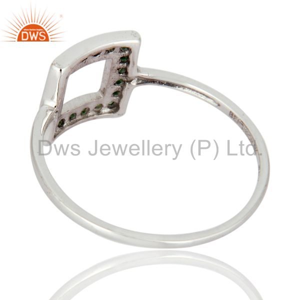 Suppliers Natural Tsavorite Gemstone Wedding And Engagement Ring in 9k White Gold Jewelry