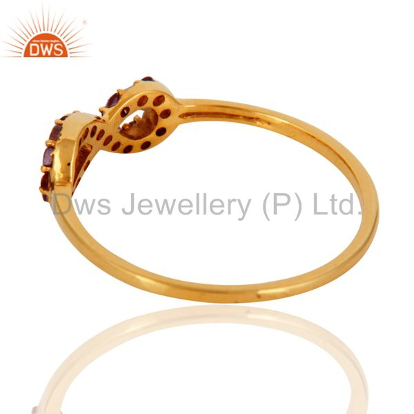 Suppliers Stylish 9K Gold February Birthstone Amethyst Promise Knot Infinity Symbol Ring