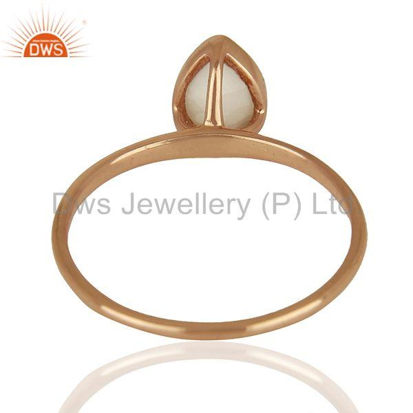 Suppliers Rose Gold Plated Silver Agate Gemstone Girls Ring Manufacturer