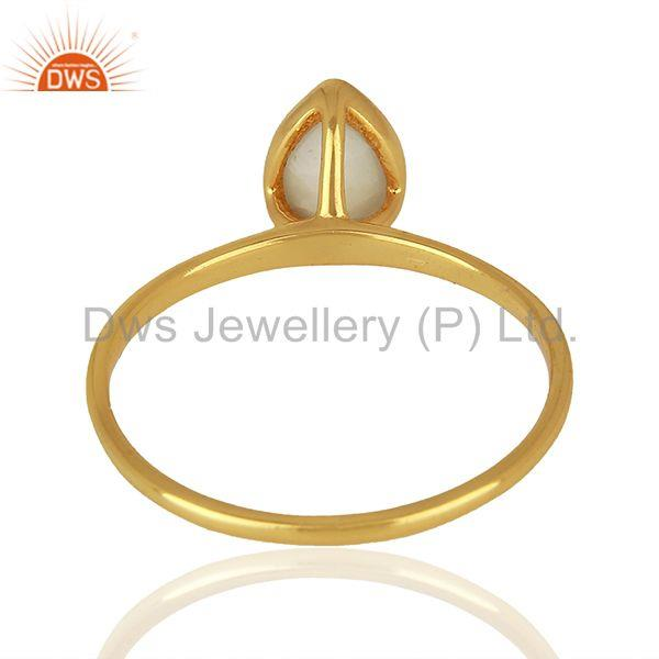 Suppliers Yellow Gold Plated Silver Agate Gemstone Ring Jewelry Supplier