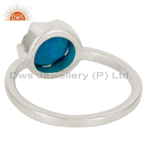 Designers Handmade Natural Turquoise Gemstone 925 Sterling Silver Ring