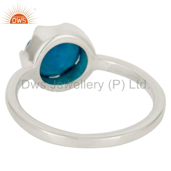 Suppliers Handmade Natural Turquoise Gemstone 925 Sterling Silver Ring