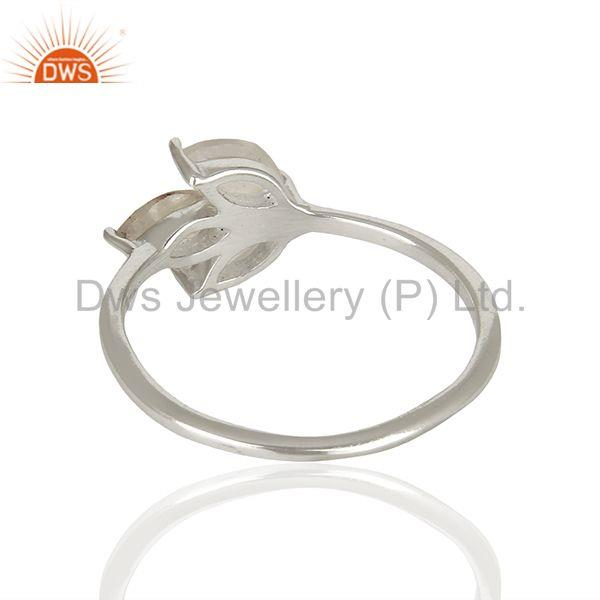 Suppliers 925 Sterling Fine Silver Rainbow Moonstone Promise Rings Manufacturer