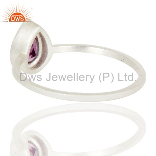 Suppliers Traditional Solid Sterling Silver Amethyst Gemstone Little Stacking Ring