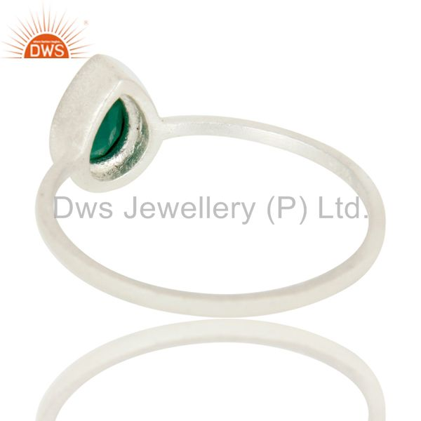 Suppliers 925 Sterling Silver Green Onyx Gemstone Stackable Ring