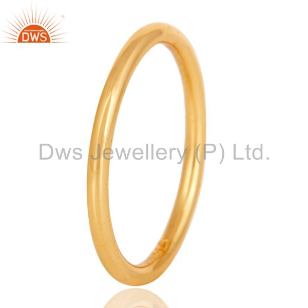 Suppliers 18K Gold Plated 925 Sterling Silver Art Deco Engagement Band Ring Jewellery
