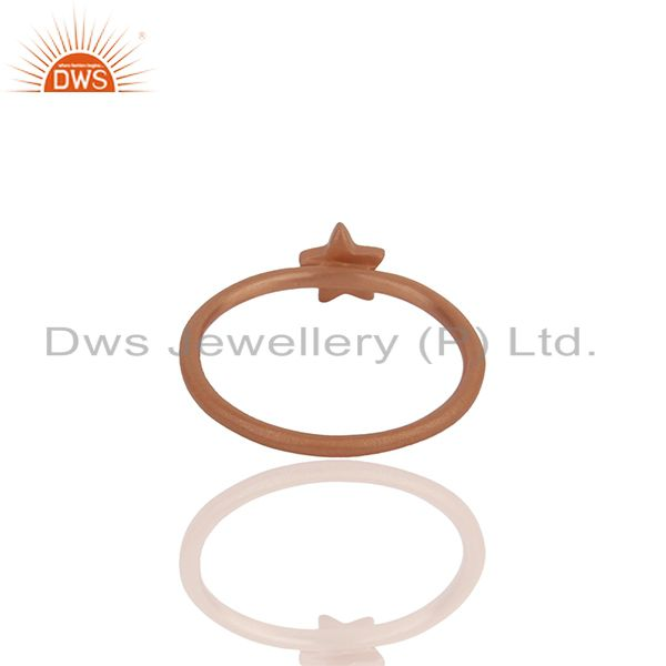 Suppliers Rose Gold Plated 925 Silver Star Charm Stackable Rings Manufacturers
