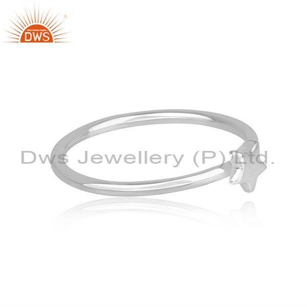Best Selling Star Shape Simple And Sleek 92.5 Sterling Silver Wholesale Ring