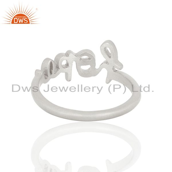 Suppliers 925 Sterling Silver Cursive Style Font Hope Word Ring