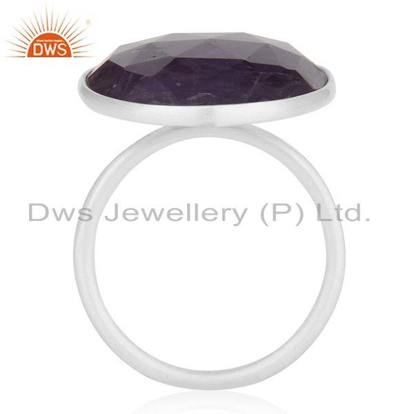 Suppliers Amethyst Gemstone Handmade 925 Sterling Fine Silver Cocktail Ring Wholesale