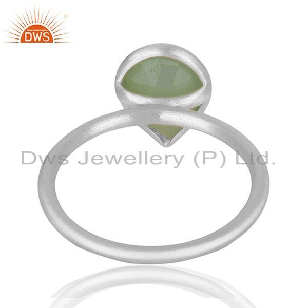Suppliers Sterling Fine Silver Aqua Chalcedony Gemstone Ring Jewelry