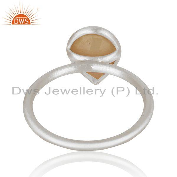 Suppliers Indian Sterling Silver Rose Chalcedony Gemstone Ring Jewelry