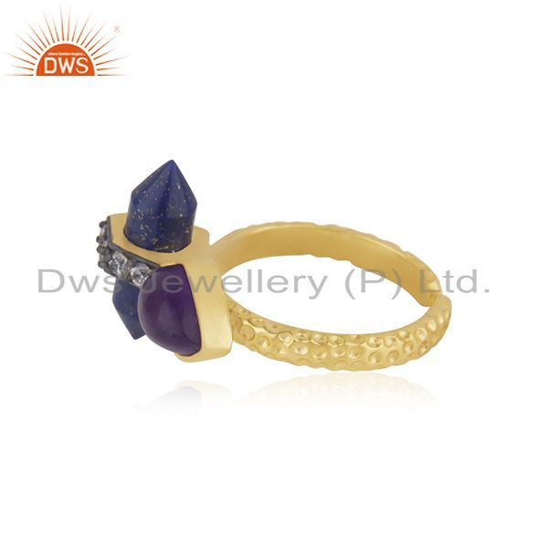 Suppliers Gold Plated CZ Gemstone Gold Plated Fashion Rings Supplier Jewelry