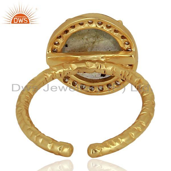 Suppliers Labradorite Gemstone Gold Plated Silver Rings Jewelry Wholesale