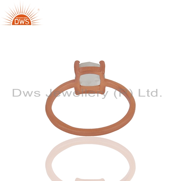 Suppliers Handmade Rose Gold Plated Sterling Silver Crystal Rings Wholesale