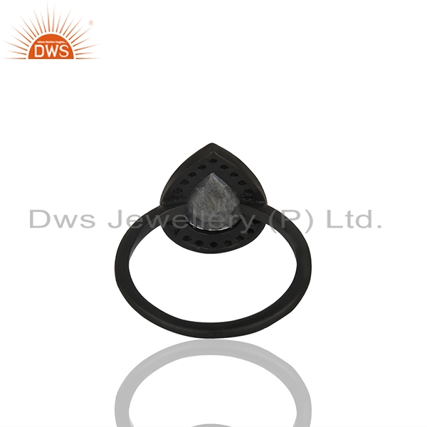 Suppliers Hematite Gemstone 925 Silver Handmade Rings Jewelry Manufacturer