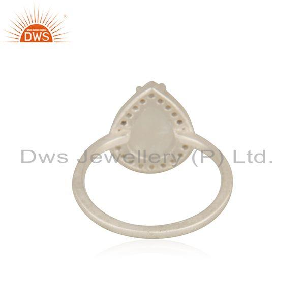 Suppliers Rainbow Moonstone Fine 925 Sterling Silver Ring Manufacturer india