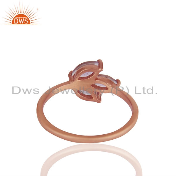 Suppliers Handmade Rose Gold Plated 925 Silver Amethyst Gemstone Rings Jewelry