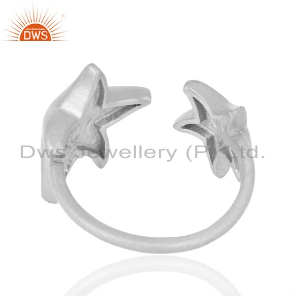 Suppliers Adjustable 925 Sterling Silver Handmade Star Design Midi Ring Jewelry