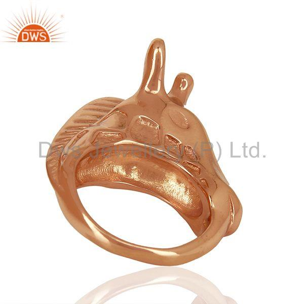 Suppliers Knuckle Giraffe 925 Sterling Silver Rose Gold Plated Ring Animal Jewellery