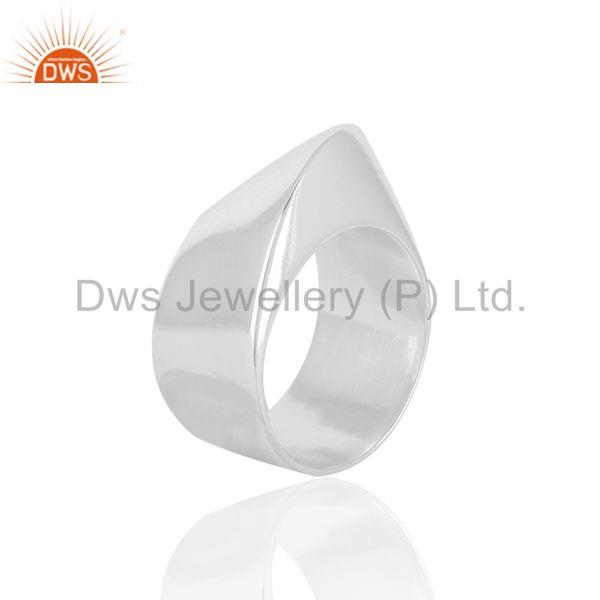 Suppliers Solid 925 Sterling Silver Unisex Customized Cocktail Ring Manufacturer