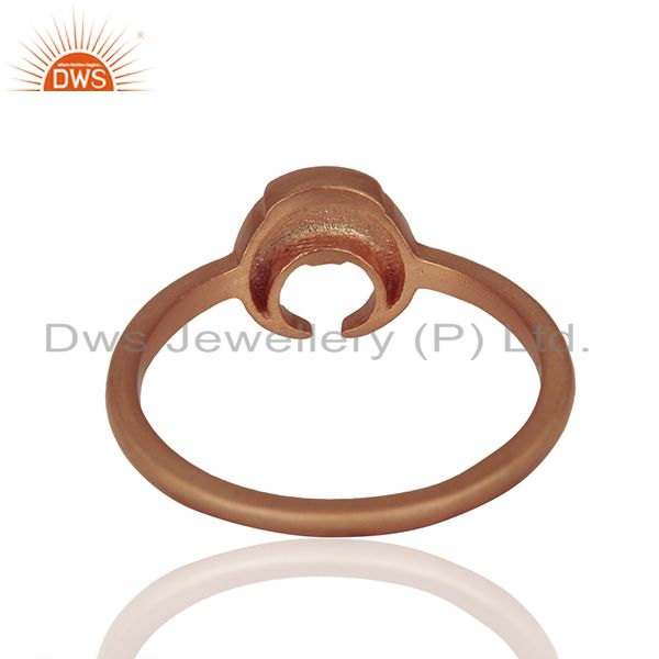Suppliers Rose Gold Plated 925 Silver Charm Rings Manufacturer of Jewelry