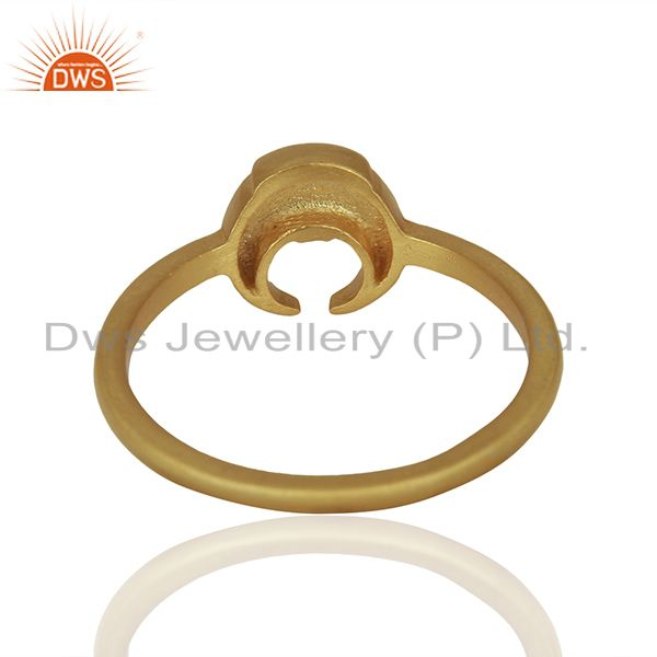 Suppliers Horse Shoe Charm 925 Silver Gold Plated Rings Manufacturer
