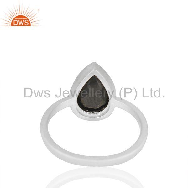 Suppliers Hematite Gemstone 92.5 Sterling Silver Customized Ring Manufacturers