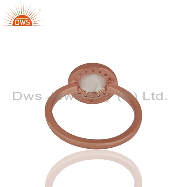 Suppliers Rose Gold Plated 925 Silver Multi Gemstone Cutom Rings Wholesale