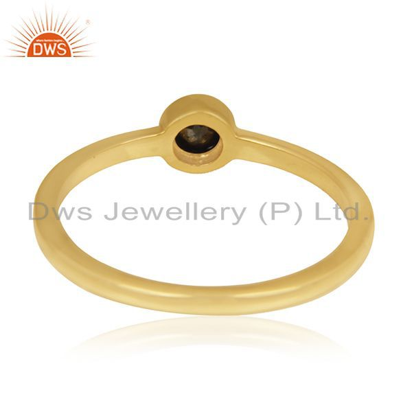 Suppliers Pyrite Gemstone Gold Plated 92.5 Sterling Silver Handmade Ring Manufacturer