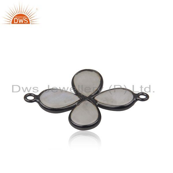 Suppliers Rainbow Moonstone Black Brass Fashion Connectors Jewelry Manufacturer