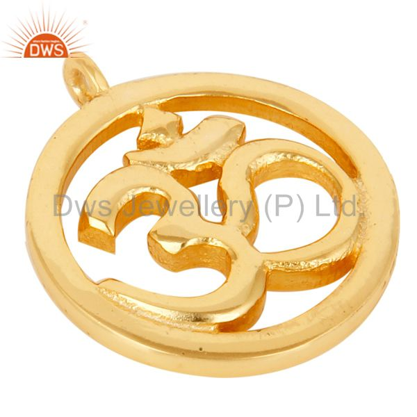 Suppliers 18K Gold Plated Om Charm Jewelry Assesories Finding Spirictual Charm