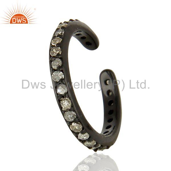 Suppliers Diamond Charm Black Rhodium 925 Sterling Silver Finding Jewelry