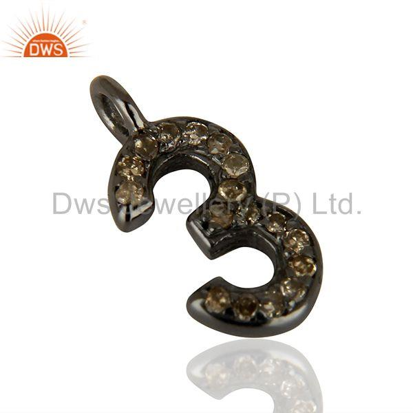 Suppliers Wholesale Pave Diamond 925 Silver Jewelry Finding Pendant Supplier
