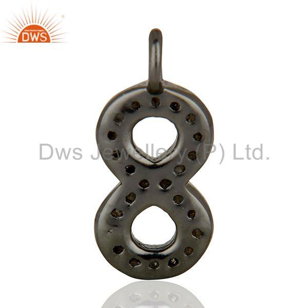 Suppliers Supplier Pave Set Diamond 925 Sterling Silver Pendant Jewelry Findings