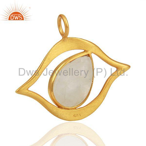 Suppliers Customized 925 Silver Gold Plated Moonstone Findings Manufacturer