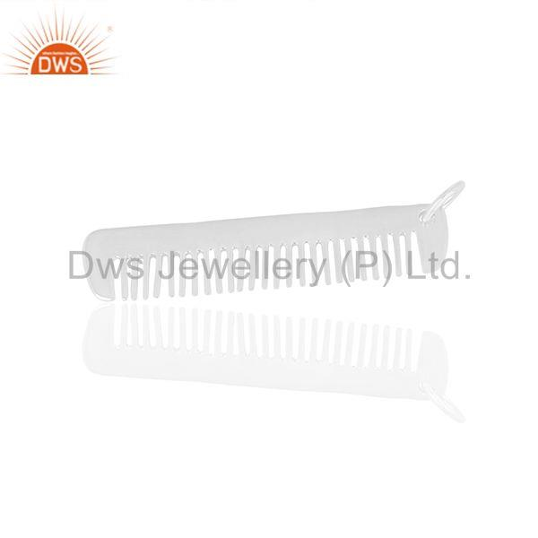 Suppliers Hair Dresser 925 Sterling Silver Hair Comb Charms Pendant Jewelry