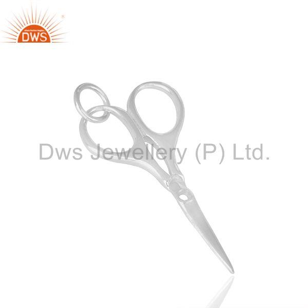 Suppliers Scissor Hairdresser 925 Sterling Silver Pendant Charm Necklace Jewelry