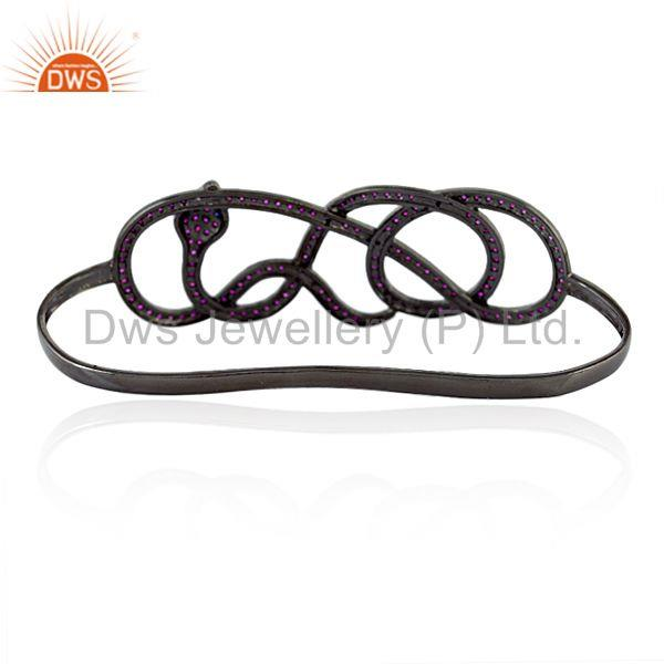 Wholesalers of Sapphire ruby sterling silver fashion wrap snake palm bangle jewelry