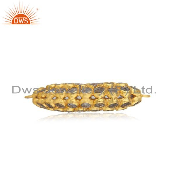 Designer of 92.5 silver gold plated white zircon jewelry findings manufacturer from jaipur