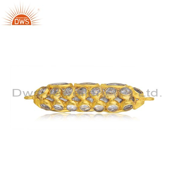 Designer of Sterling silver white zircon gold plated jewellery findings manufacturer india