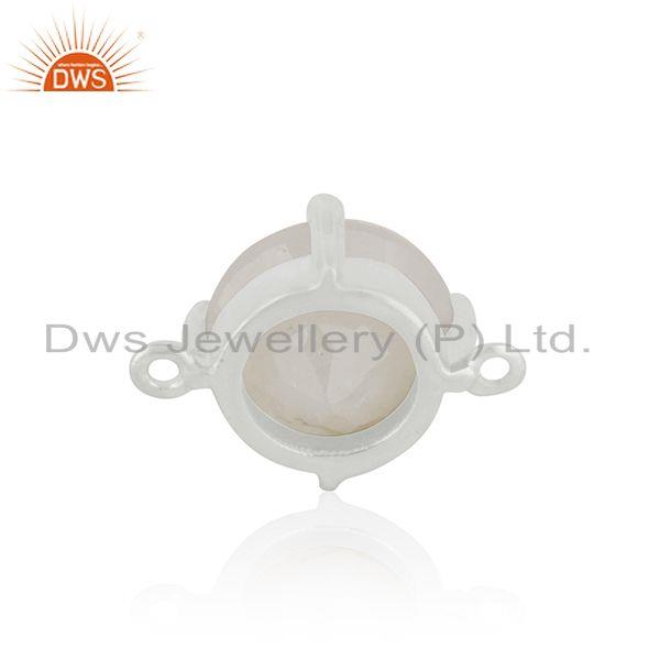 Designer of Wholesale silver plated brass rainbow moonstone connector jewelry