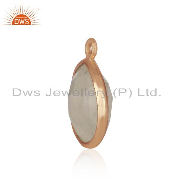 Designer of Rose gold plated 925 silver rainbow moonstone jewelry findings