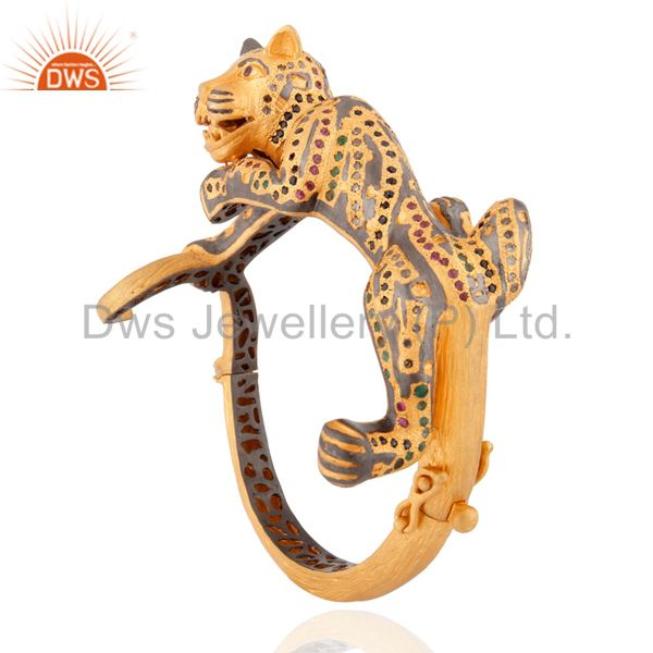 Wholesalers of Designer bangle jewelry diamond emerald ruby sapphire tiger bracelet