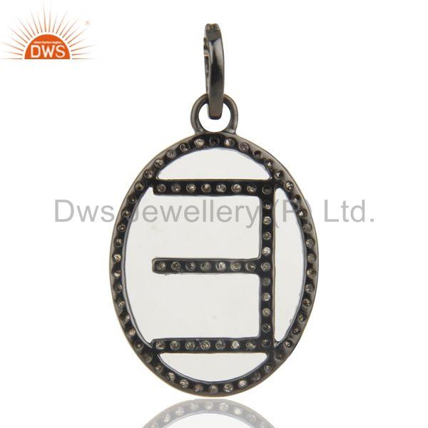 Suppliers E Initial Customized Pave Diamond Pendant Jewelry Manufacturer