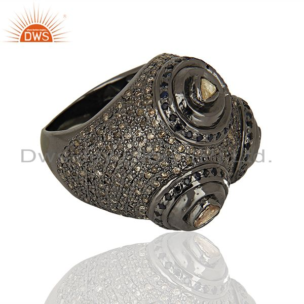 Suppliers 925 Silver Pave Diamond Engagement Rings Jewelry Manufacturer