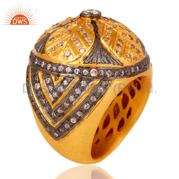 Suppliers Lovely Traditional Designer with 18k Gold Plated and Multi Color Zircon