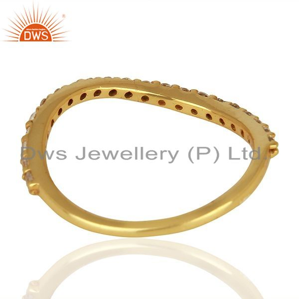 Suppliers Zircon Gemstone Gold Plated 925 Silver Fashion Ring Manufacturer